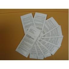 GENERIC Set of 10 Single Use Dollar Bill Validator Cleaning Cards