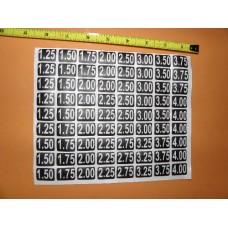 """OD38 High Price Stickers Approx .75"""" x 1"""" w"""