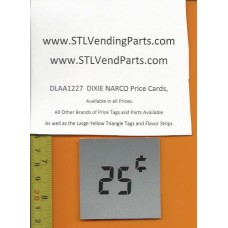 DIXIE Narco .25 Price Window Labels