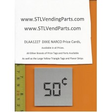 DIXIE Narco .50 Price Window Labels