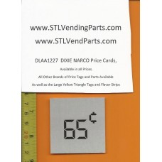 DIXIE Narco .65 Price Window Labels