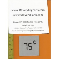 DIXIE Narco .75 Price Window Labels