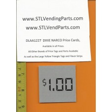 DIXIE Narco 1.00 Price Window Labels