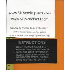 VENDO Large Instruction Labels