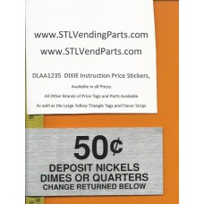 DIXIE Narco Instruction Price Labels .50
