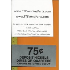 DIXIE Narco Instruction Price Labels .75