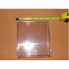 "DIXIE Clear Plastic Selection Button OVERSIZE 6"" x 5.5"""