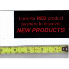 GENERIC Product Pusher Static Cling Label that indicates Red Kickers are New Products