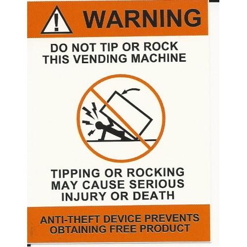 vending machine warning sticker