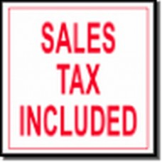 "STICKER ""Sales Tax Included""  2 1/2"" x 2 1/2"""